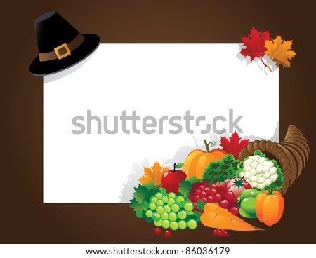 Thanksgiving background. EPS 8 vector, grouped for easy editing. No open shapes or paths. - stock vector