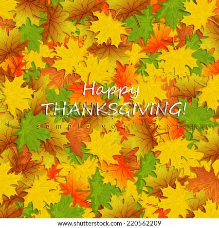 Thanksgiving card  - stock vector