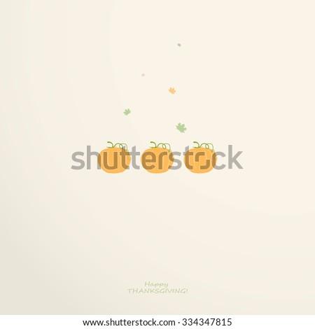Thanksgiving card with pumpkin  - stock vector