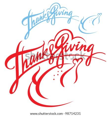 Thanksgiving celebration american holiday turkey chicken food - stock vector