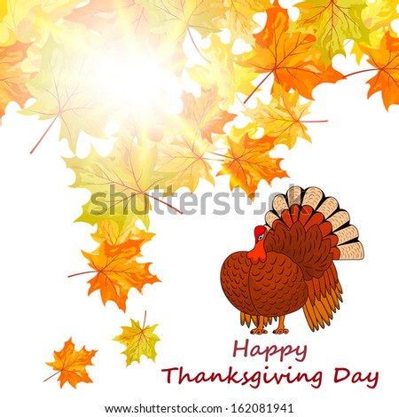 Thanksgiving Day background - stock vector