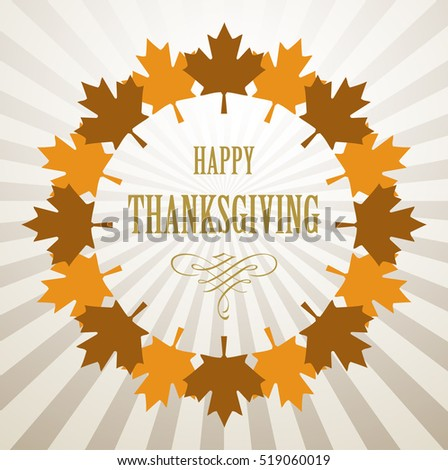 Thanksgiving day design