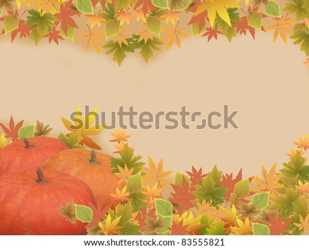 Thanksgiving holiday frame background, vector illustration