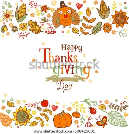 Thanksgiving poster greeting card holiday traditional stock vector thanksgiving poster or greeting card with holiday traditional symbols m4hsunfo