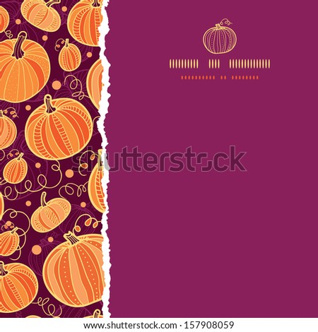 Thanksgiving pumpkins square torn seamless pattern background - stock vector