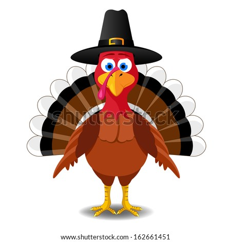 Thanksgiving turkey - stock vector