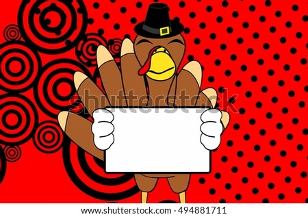 thanksgiving turkey cartoon expression background in vector format