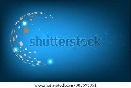 The abstract background design with digital blue color style, illustrator eps10.