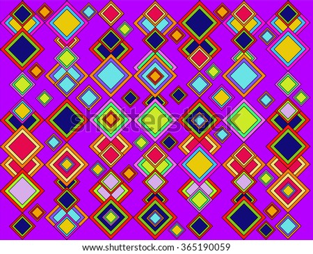 The abstract geometric background of colored squares