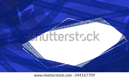 The abstract geometric background with tyres tracks and copy space. - stock vector