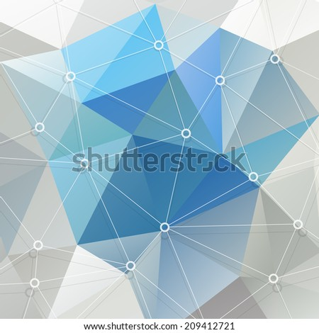The abstract geometric triangle background. Vector illustration.Eps 10. - stock vector