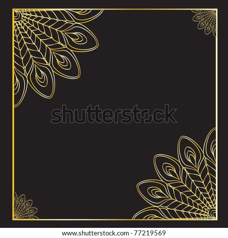 the abstract gold vector peacock eps file - stock vector