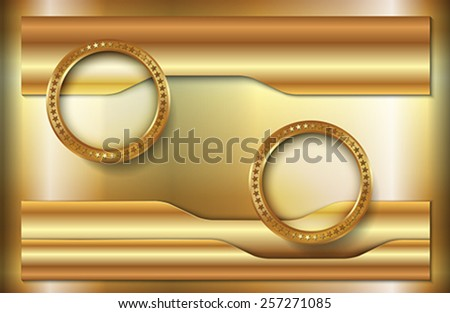 The abstract metallic background