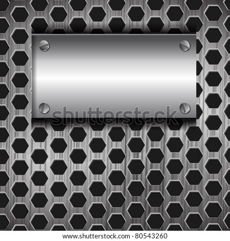 the abstract metallic background - vector illustration - stock vector