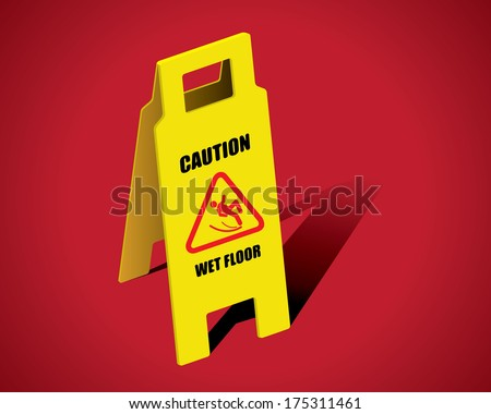 THE ABSTRACT OF CAUTION SIGN VECTOR - stock vector