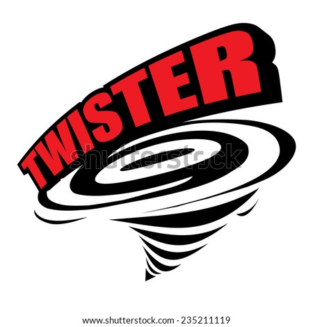 The abstract of Twister icon vector - stock vector