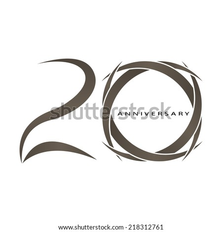 The abstract of 20 years anniversary vector - stock vector