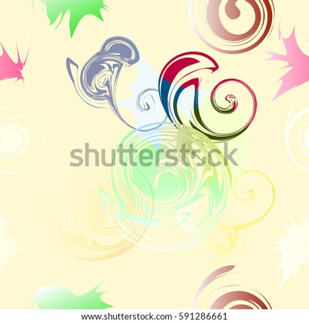 The abstract seamless pattern, fabric print, cloth texture, soft color for background