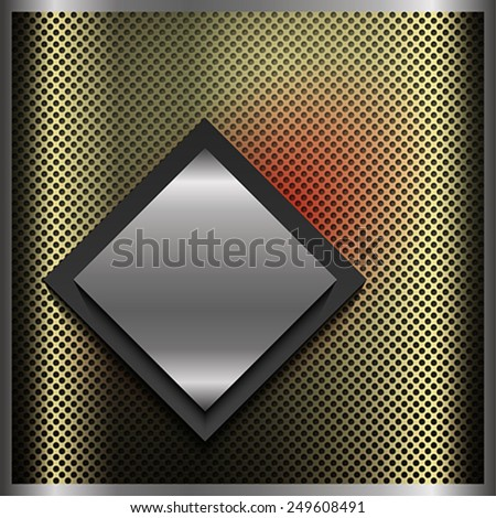 The abstract square background