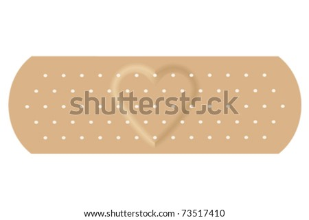 The adhesive bandage with love. - stock vector
