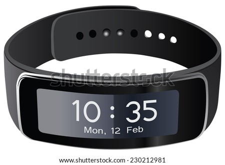 The advanced technology of sell phone service - smart watches. Vector illustration. - stock vector