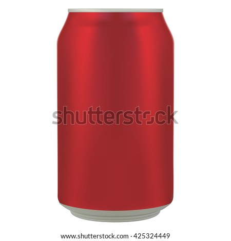 The aluminum can. Vector illustration. - stock vector