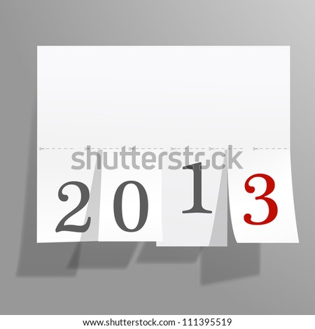 The announcement of the new year 2013 - stock vector