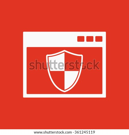 The antivirus icon. Firewall and safety, protection, website symbol. Flat Vector illustration - stock vector