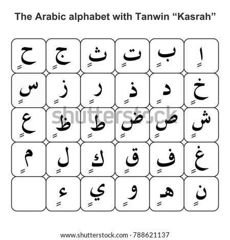 Arabic alphabet tanwin stock vektorgrafik 788621137 shutterstock - Durch wande horen app ...