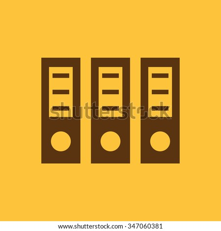 The archive folder icon. Document and data, portfolio, office symbol. Flat Vector illustration - stock vector