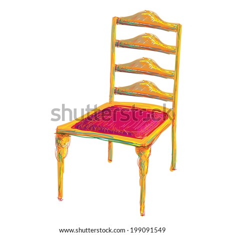The art chair. Wooden furniture