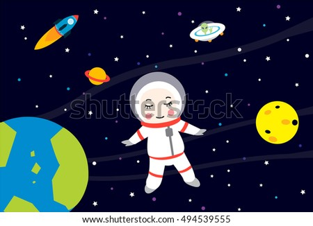The astronaut is alone in the universe
