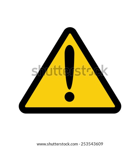 The attention icon. Danger symbol. Flat Vector illustration - stock vector