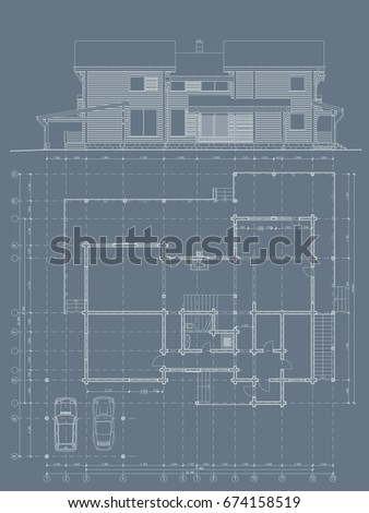 Architecture Drawing Cars architectural plans stock images, royalty-free images & vectors