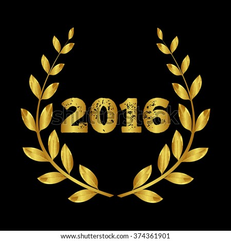 The award for 2016. Laurel wreath