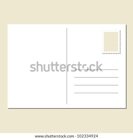 Back Blank Postcard Stock Vector 102334924 - Shutterstock