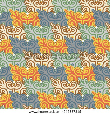 The background of beautiful seamless patterns
