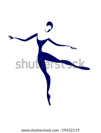 The ballerina dances the stylized figure