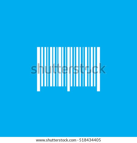 The Barcode Icon.Identification and ID symbol.Flat illustration.Eps10