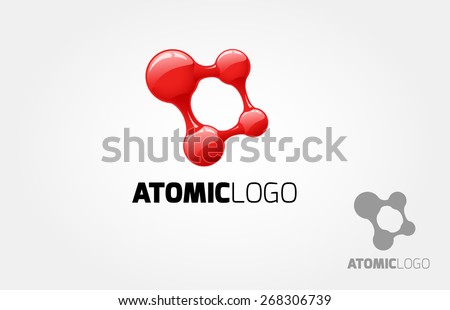 The basic of this logo is an abstract logo, but we can look an atom, connection, net, square, dot, or molecular. It's can symbolize anything that related with arts and technology. - stock vector