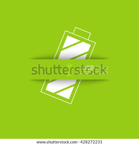 The battery icon with a full charge. charging the battery. Icon Battery. Abstract background with rechargeable battery. - stock vector