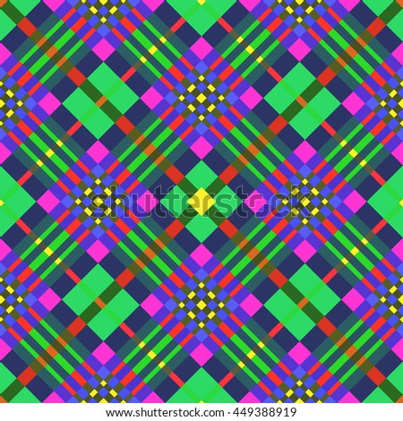 The beautiful vibrant geometric Pattern seamless geometric pattern.Intersecting diagonal stripes.Vector illustration.Can be used for textile,fabric,wrapping paper. - stock vector
