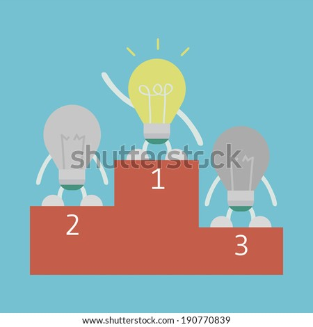 the best creative is winner, smart thinking concept, flat style - stock vector
