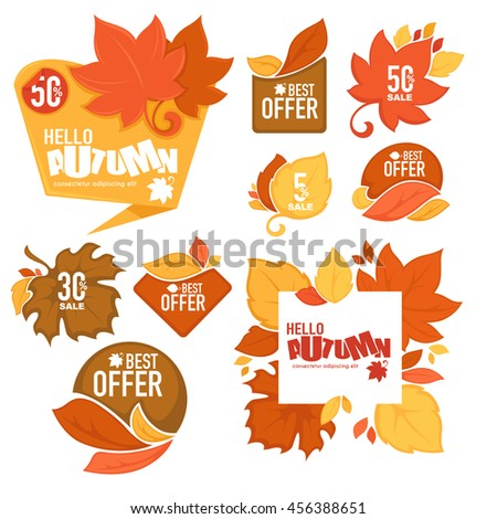 the best offer, super sale, vector collection of bright autumn discount bubble tags, banners and stickers