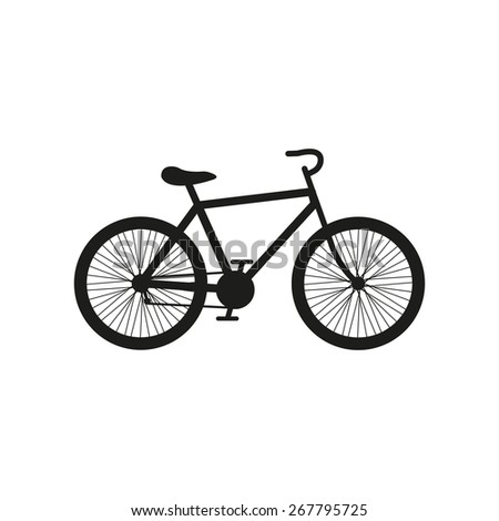 The bicycle icon. Bike symbol. Flat Vector illustration - stock vector