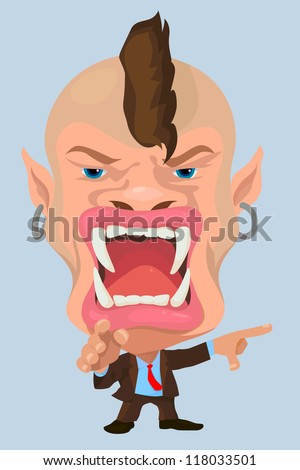 The big boss very angry, illustration by vector design. - stock vector