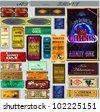 The big set of tickets. A vector. Circus, theater, cinema, representation. EPS10 - stock photo
