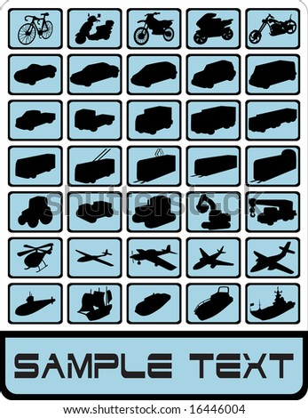 The big vehicle icon set vector illustration