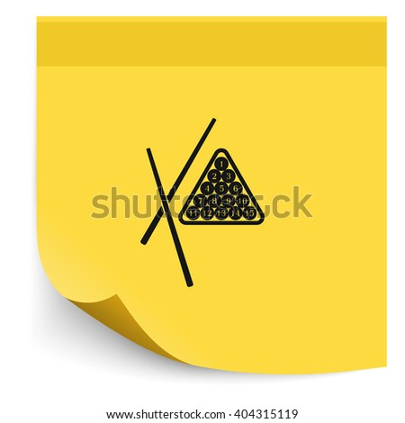 The billiard icon. Game symbol. Flat illustration - stock vector