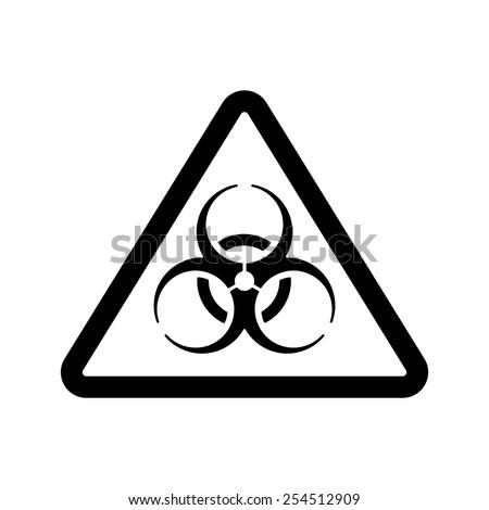 The biohazard icon. Biohazard symbol. Flat Vector illustration - stock vector